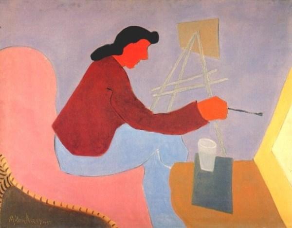 Female Painter, 1945 - Milton Avery