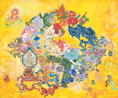 Asian Rendezvous - Miriam Schapiro