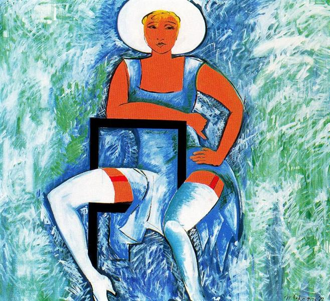 Blue Angel, 1987 - Miriam Schapiro