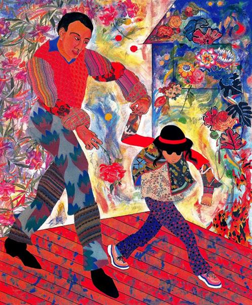 Father and Daughter, 1997 - Miriam Schapiro