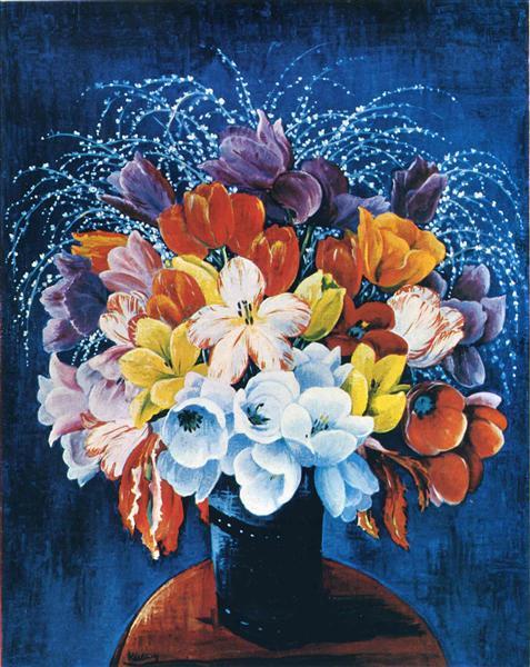 Bouquet of tulips - Moise Kisling