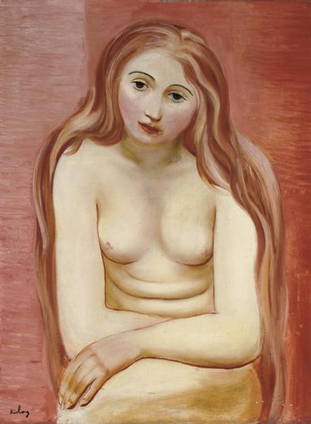 Sitting nude, 1930 - Moise Kisling