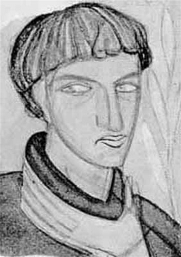Portrait of Sedliar, 1927 - Mykhailo Boychuk
