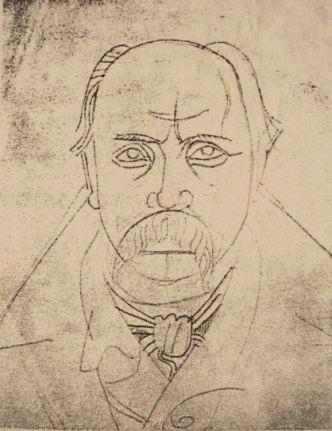 Portrait of Taras Shevchenko, c.1915 - Mykhailo Boychuk
