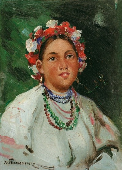 A Girl. - Mykola Pymonenko
