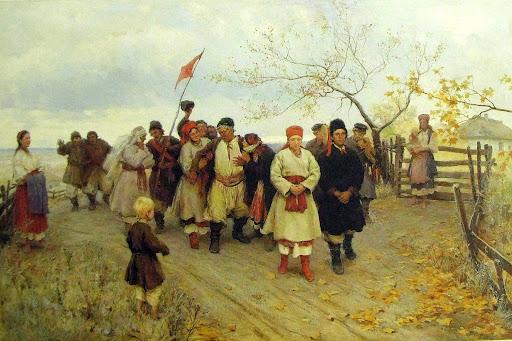 Wedding in Kiev Province - Mykola Pymonenko