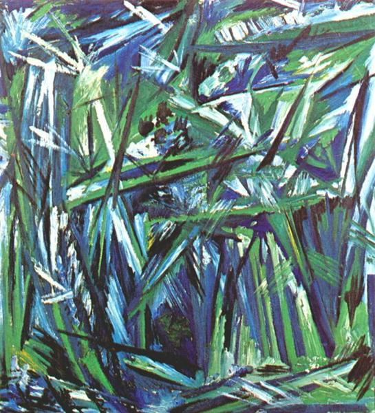 Green forest - Goncharova Natalia