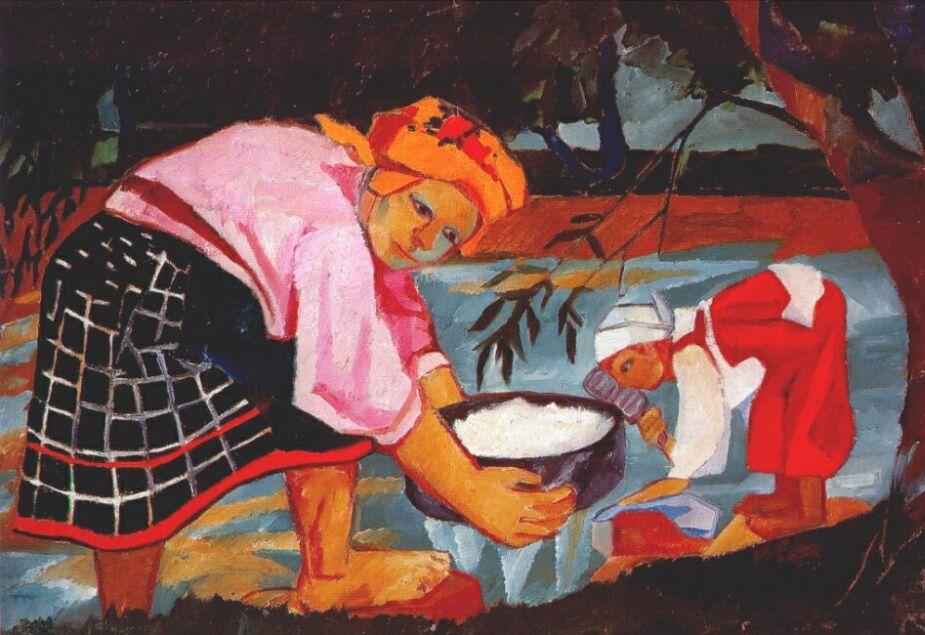 Natalia Goncharova - Page 3 Peasant-women
