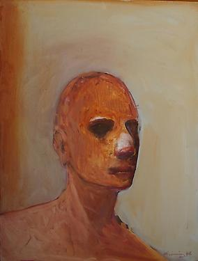 Golden Head, 1986 - Nathan Oliveira