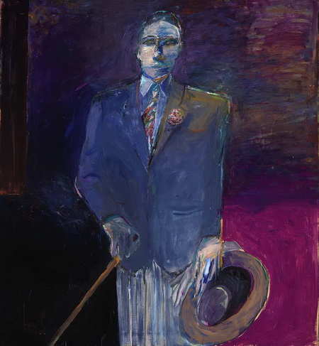 Man with a Hat, Cane and Glove, 1961 - Nathan Oliveira