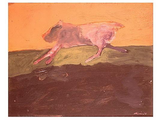 Running Dog, 1961 - Nathan Oliveira