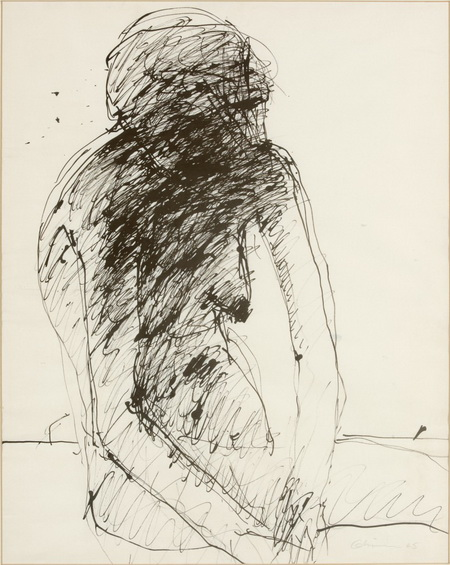 Untitled Female Nude, 1965 - Nathan Oliveira