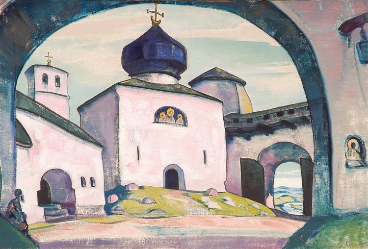 Old Pskov, 1922 - Nicholas Roerich