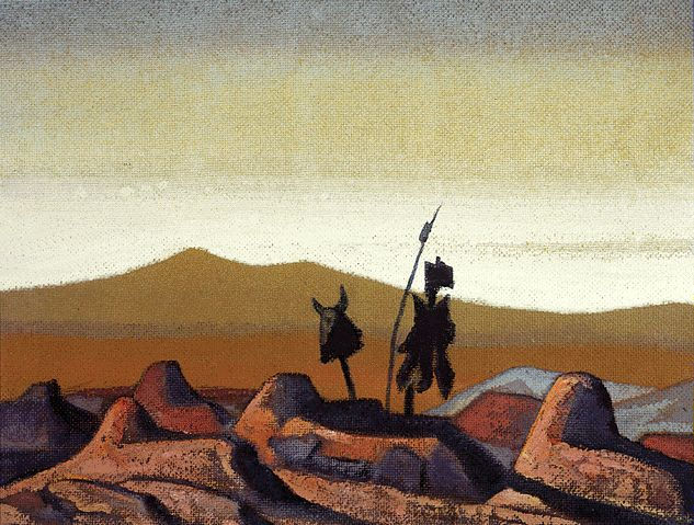 Tombs in the desert, 1930 - Nicholas Roerich