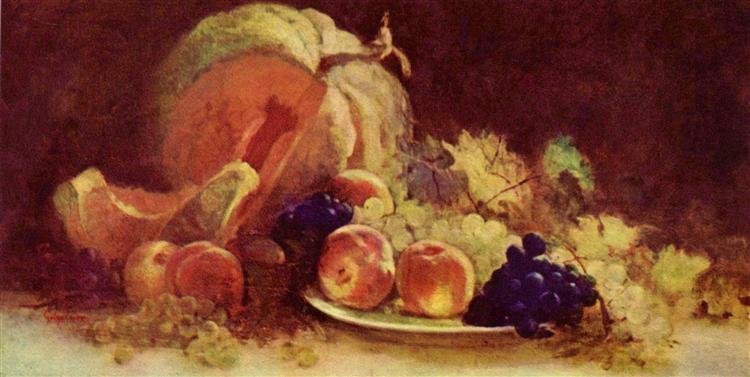 Still Life with Fruit - Nicolae Grigorescu