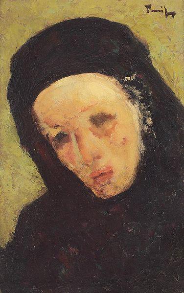 Mourner - Nicolae Tonitza