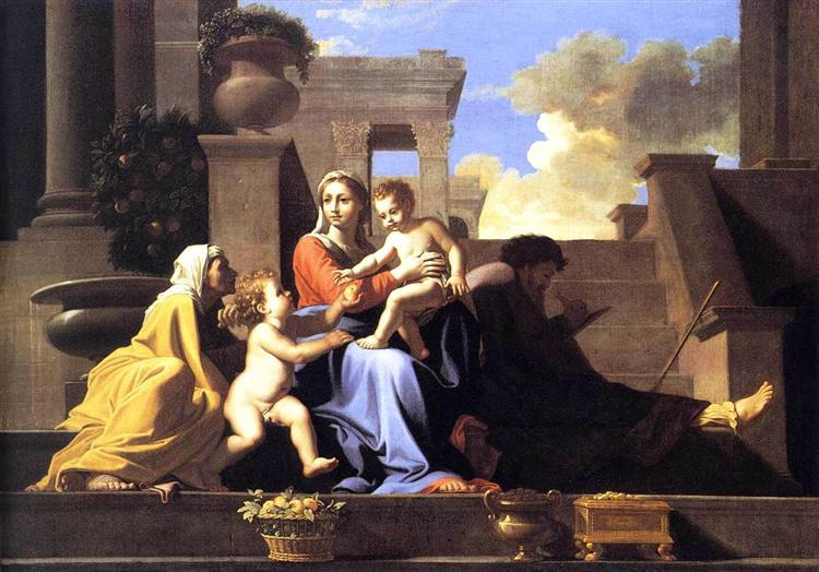 Holy Family on the Steps, c.1648 - Nicolas Poussin