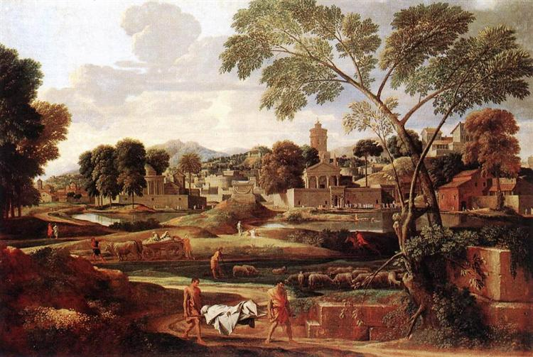 Landscape with the Funeral of Phocion, 1648 - Nicolas Poussin