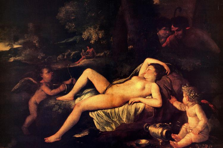 Sleeping Venus and Cupid, c.1630 - Nicolas Poussin