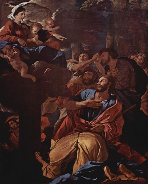 The Apparition of the Virgin the St. James the Great, c.1629 - Nicolas Poussin