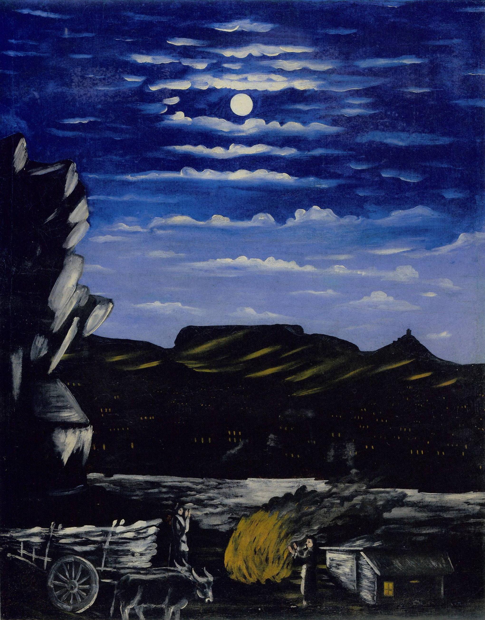 Arsenali Mountain at night, 1908