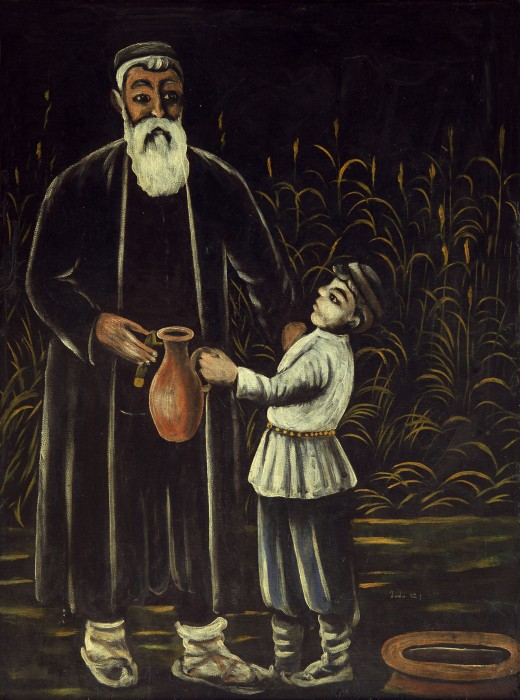 Peasant and his son, 1908