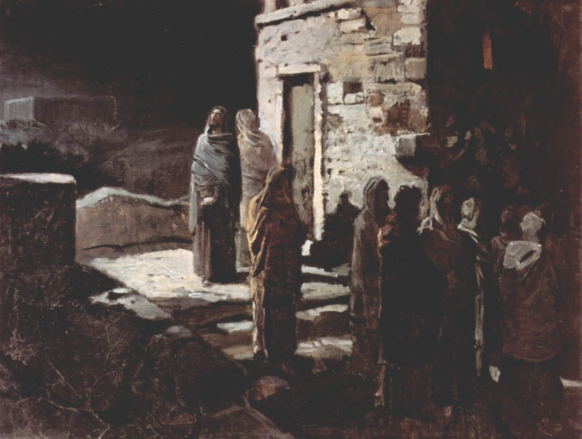 christ and his disciples entered the garden of gethsemane 1888