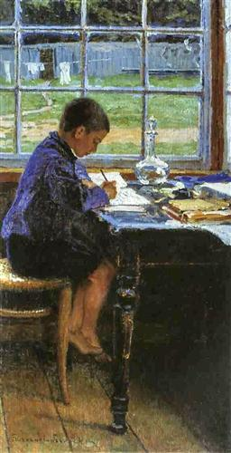 Doing the Lessons - Nikolay Bogdanov-Belsky