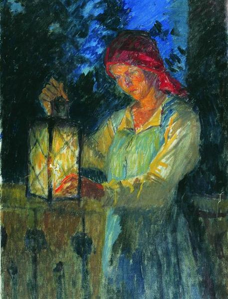 Girl with Latern, 1908 - Nikolay Bogdanov-Belsky