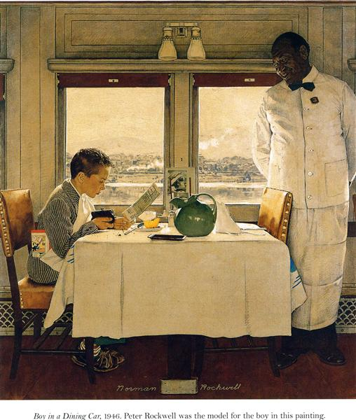 Boy in a Dining Car, 1947 - Norman Rockwell