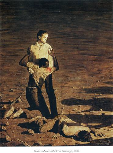 Southern Justice (Murder in Mississippi) - Norman Rockwell