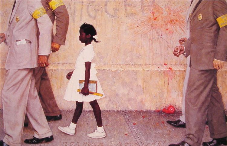 The problem we all live with - Norman Rockwell