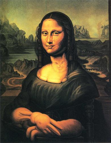 When Monalisa fixed , photoshop mona lisa graphic design