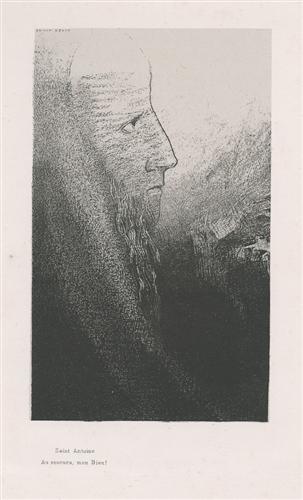 Anthony: Help me, O my God! (plate 2) - Odilon Redon
