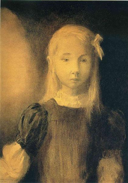 Portrait of Mademoiselle Jeanne Roberte de Domecy, 1905 - Odilon Redon