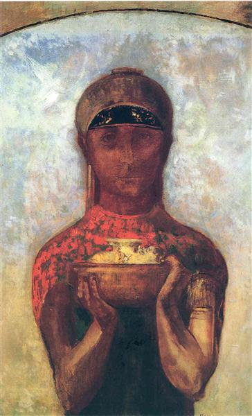 The Cup of Mystery, c.1890 - Odilon Redon