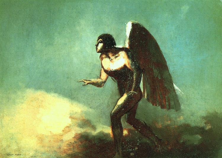The Winged Man (The Fallen Angel), 1880 - Odilon Redon