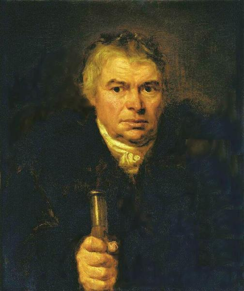 Portrait of the artist's father, Adam Karlovich Schwalbe, 1804 - Orest Kiprensky
