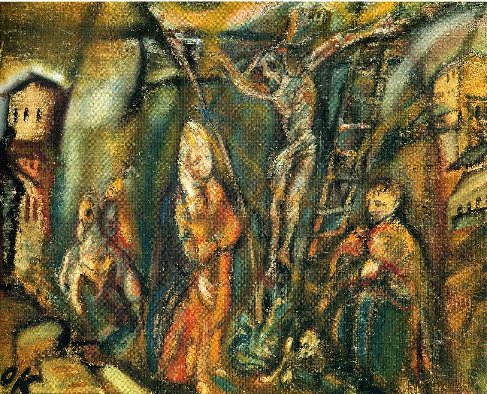 Crucifixion (Golgotha), 1912 - Oskar Kokoschka - WikiArt.org Chagall Crucifixion Paintings