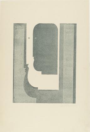 Three Vertical Profiles (Drei senkrechte Profile), 1920 - Oskar Schlemmer