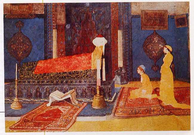 Two Young Girls Visiting a Shrine, 1890 - Osman Hamdi