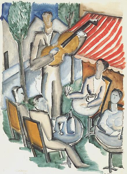 The Guitar Player, 1920 - Ossip Zadkine