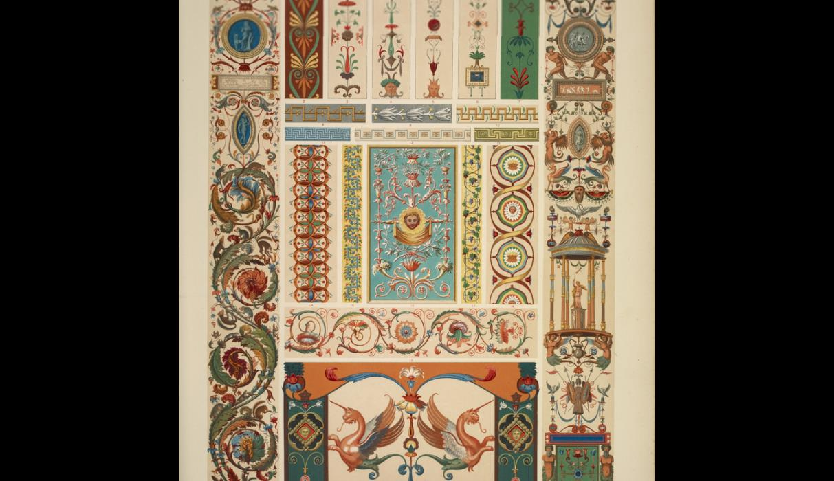 Italian ornaments - Italian Ornament No 1 Pilasters And Ornaments From The Loggie Of The Vatican
