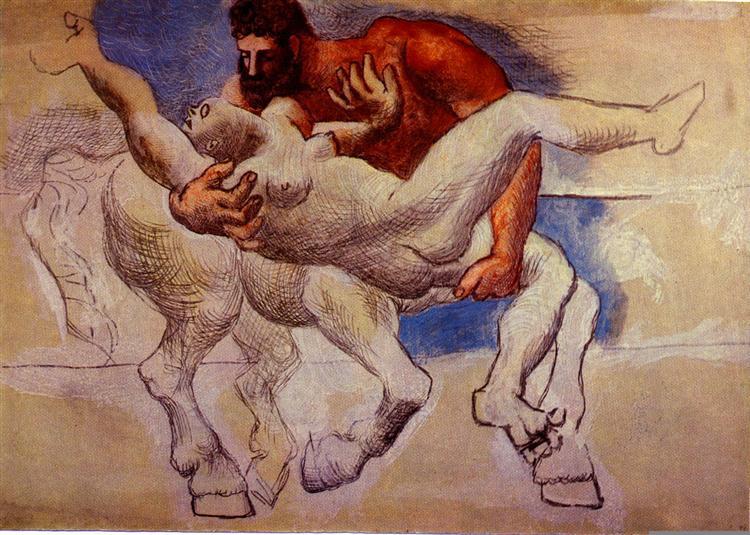 Abduction (Nessus and Deianeira), 1920 - 畢卡索