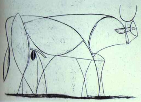 Bull (plate IX), 1946 - Pablo Picasso