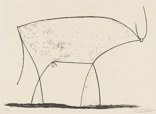 Bull (plate XI), 1946 - Pablo Picasso