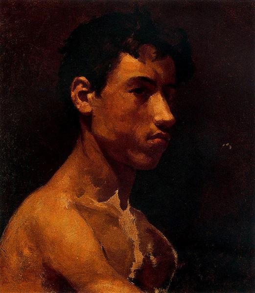 Bust of young man, c.1895 - Pablo Picasso