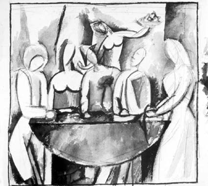Carnival at the bistro, 1909 - Pablo Picasso