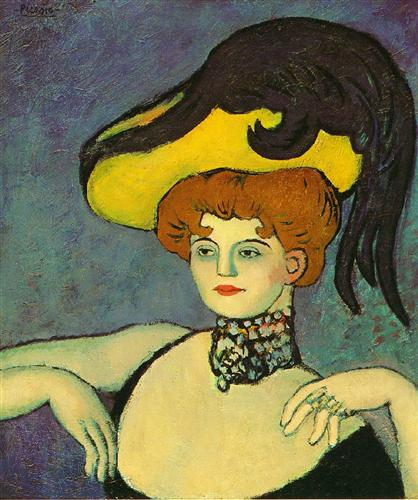 Courtesan with necklace of gems - Pablo Picasso