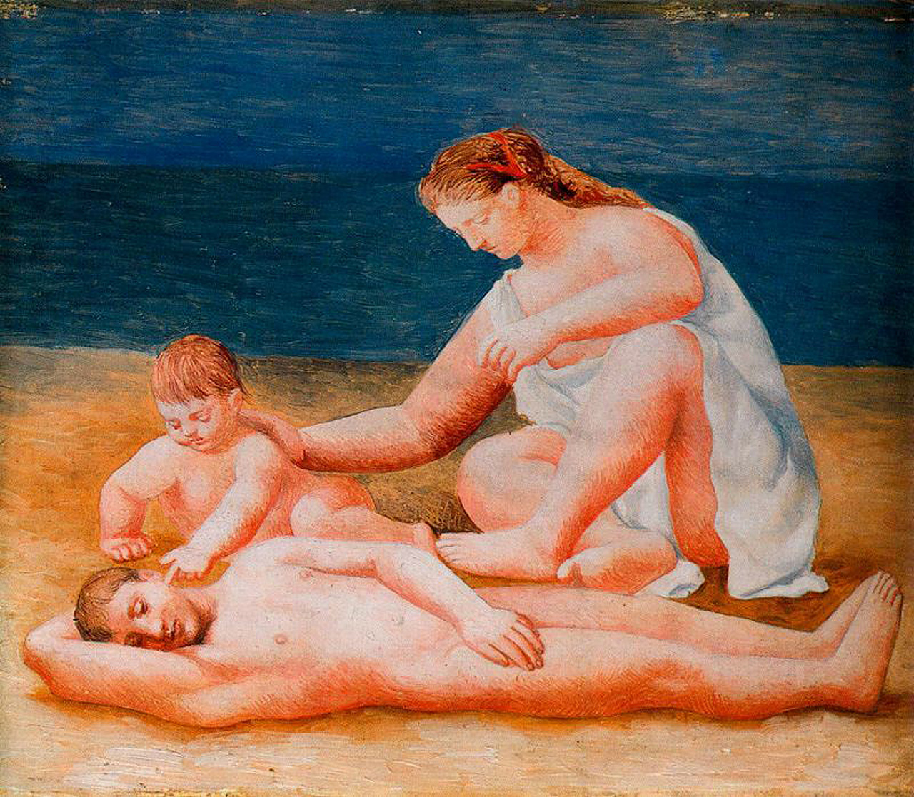 Family at the seashore, 1922